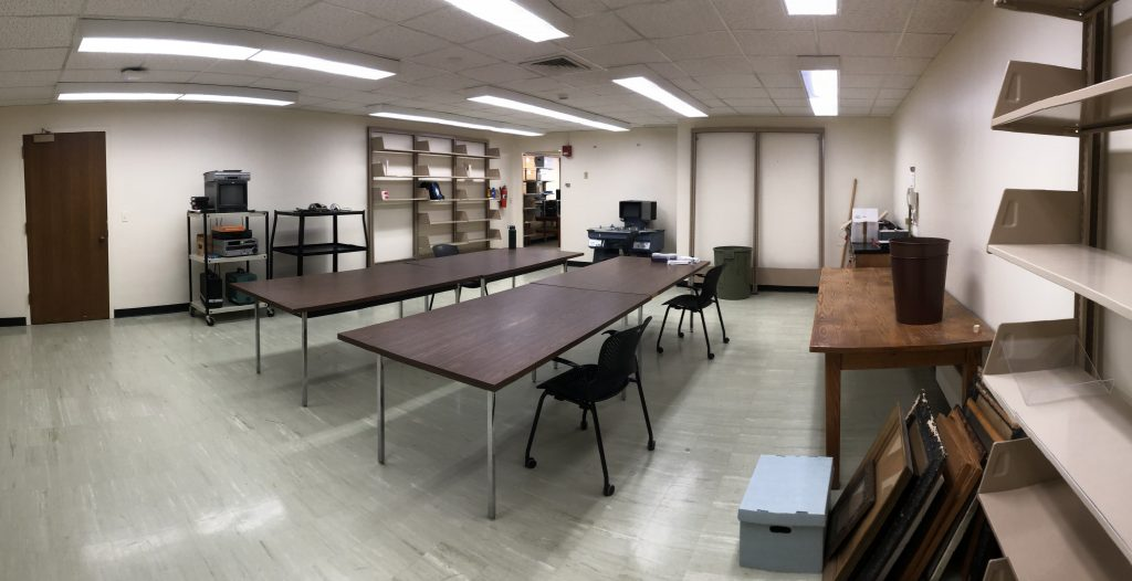 Video Preservation Lab in Spencer Research Library, prior to renovation.