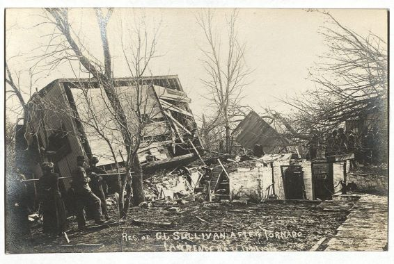 Photograph of 636 Illinois Street, home of Mrs. Joe Sullivan, April 13, 1911