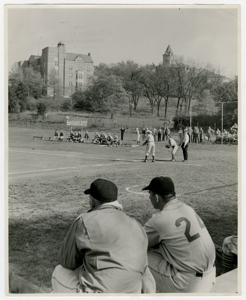 Photograph of a KU baseball game, 1950s