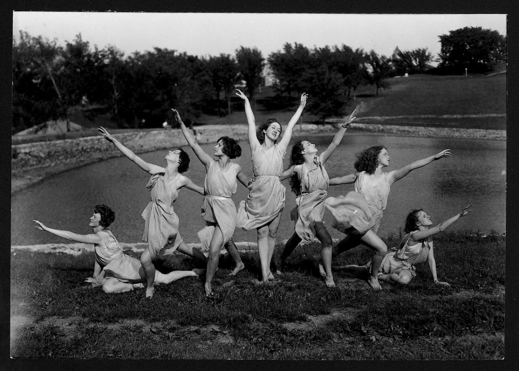 Photograph of members of KU's Tau Sigma Dance Society, 1932