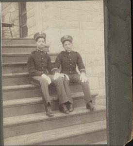 Two members of the 9th Cavalry band. No photographer identified.