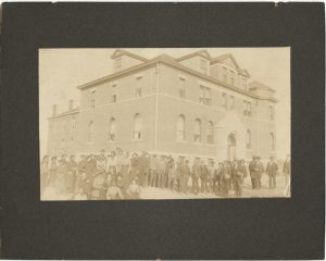 Stanley Hall at Western University caption: Western University for African Americans in Quindaro.