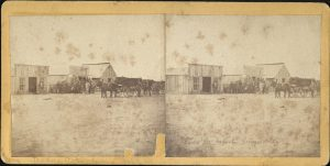 Stereoview of Dodge City, Kansas. Published by J. Lee Knight of Topeka, Kansas