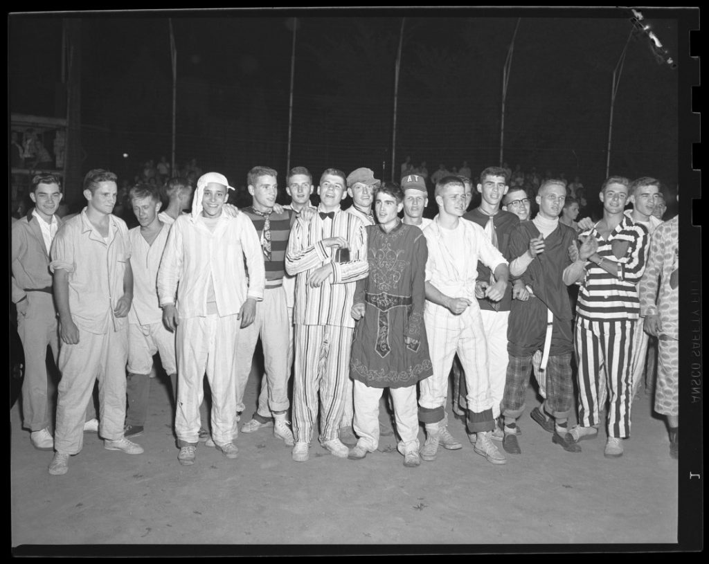 Photograph of the KU Nightshirt Parade, 1951