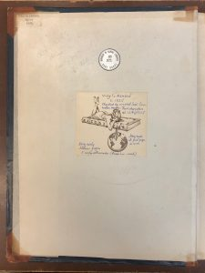 Bookplate of Robert T. Aitchison in the middle of the front pastedown of MS E71 (a manuscript copy of Vergil's Aeneid). The ticket of the binder, George Bretherton, is also visible on the top left corner indicating that the current binding had been done for Sir Thomas Phillipps in 1847.
