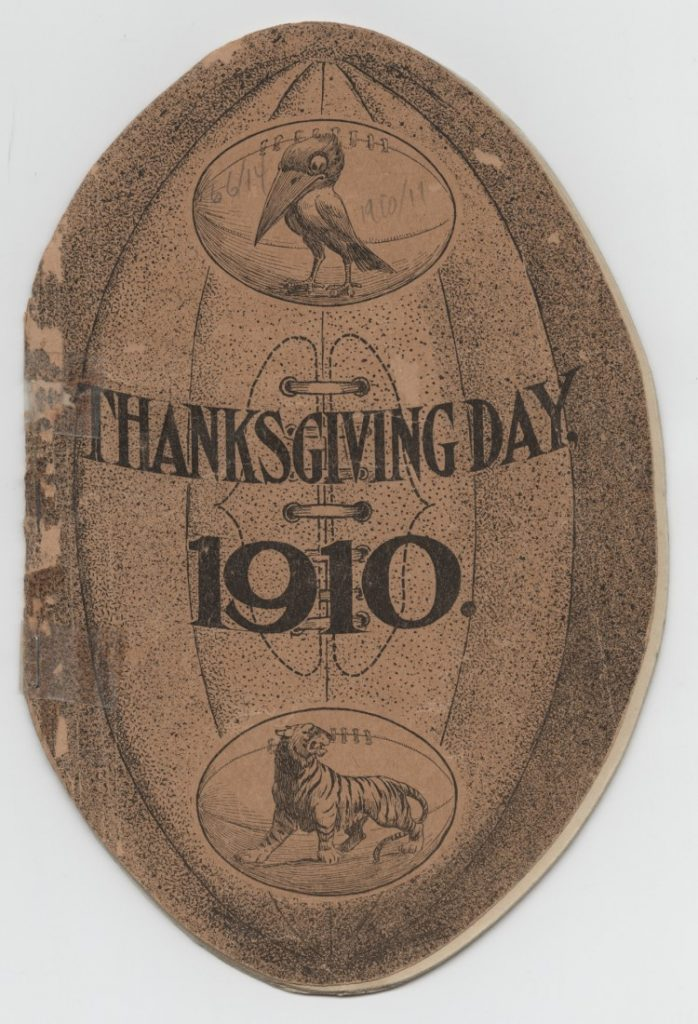 Cover of the KU football souvenir program, November 24, 1910