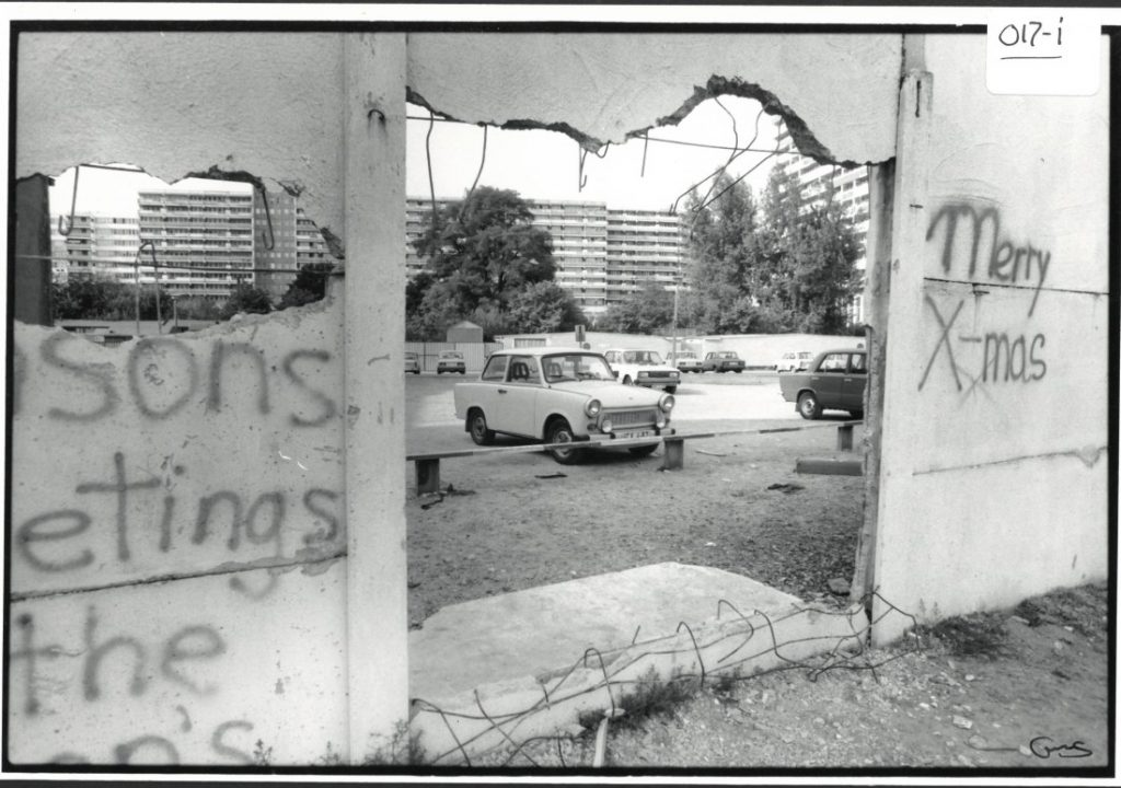 "Photograph entitled ""Berlin Wall #1,"" 1990"