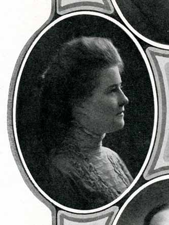 Senior photograph of Jessie Baldridge in the Jayhawker yearbook, 1909