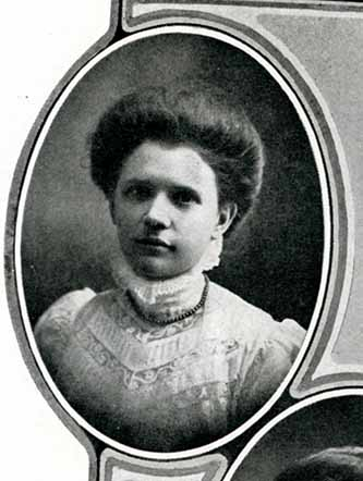 Senior photograph of Mary Elizabeth Parker in the Jayhawker yearbook, 1909