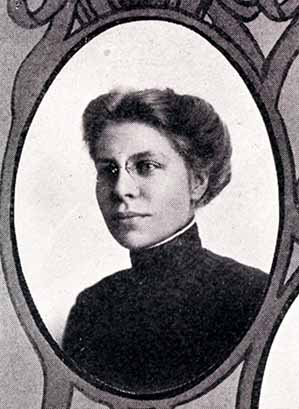 Senior photograph of Florence Hackbusch in the Jayhawker yearbook, 1910