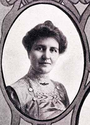 Senior photograph of Laurenia Mervine Shaw in the Jayhawker yearbook, 1910