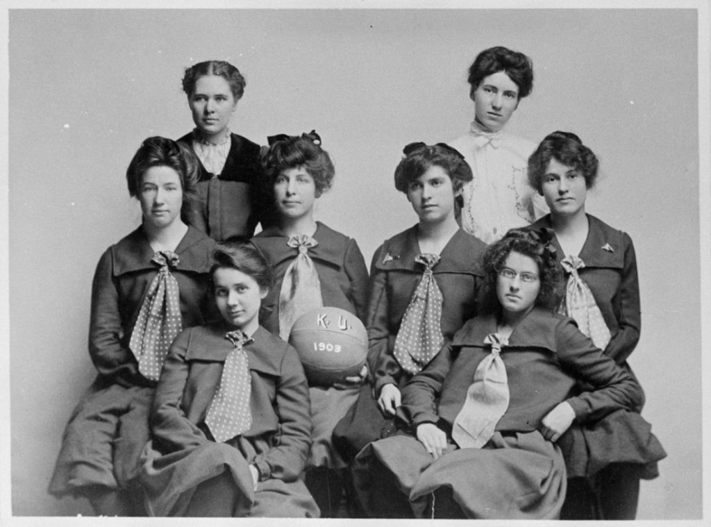 Photograph of the KU women's basketball team, 1902-1903