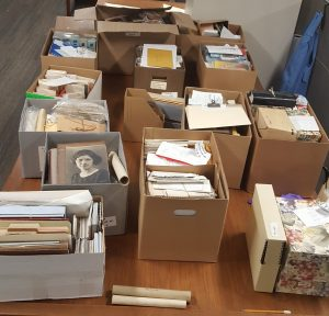 Addition to Frowe and Lathrop Families Records prior to processing.