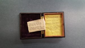 Valentine poem in a photograph case.