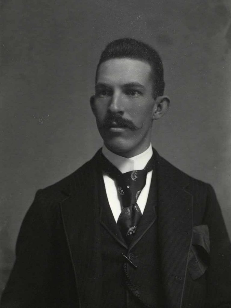 Photograph of Frank C. Morrow, circa 1900