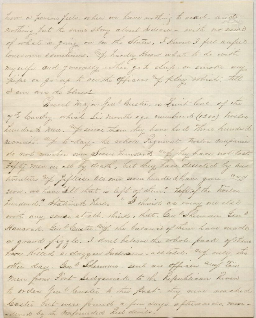 The second page of Richard Blake's letter to mother, July 14, 1867
