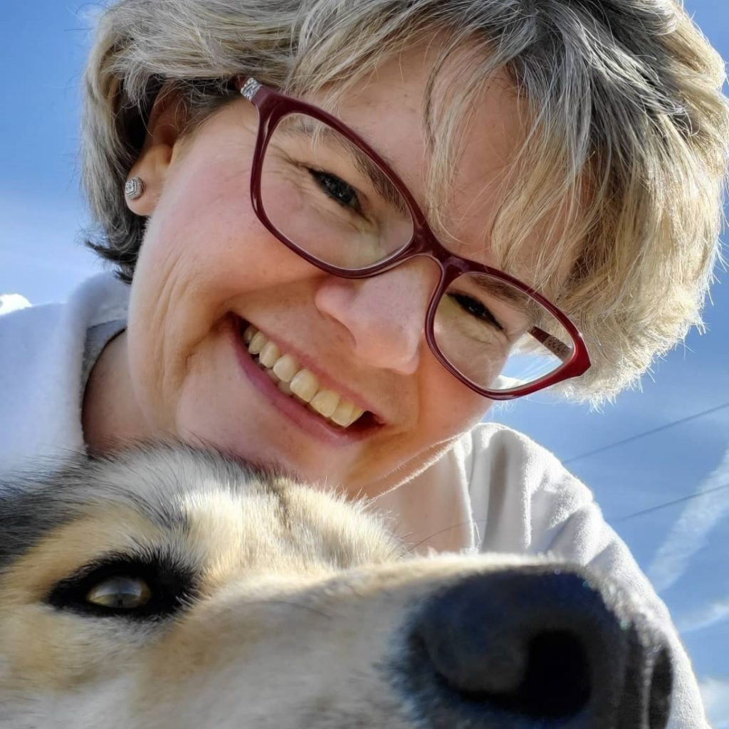 Photograph of Lynn and her dog