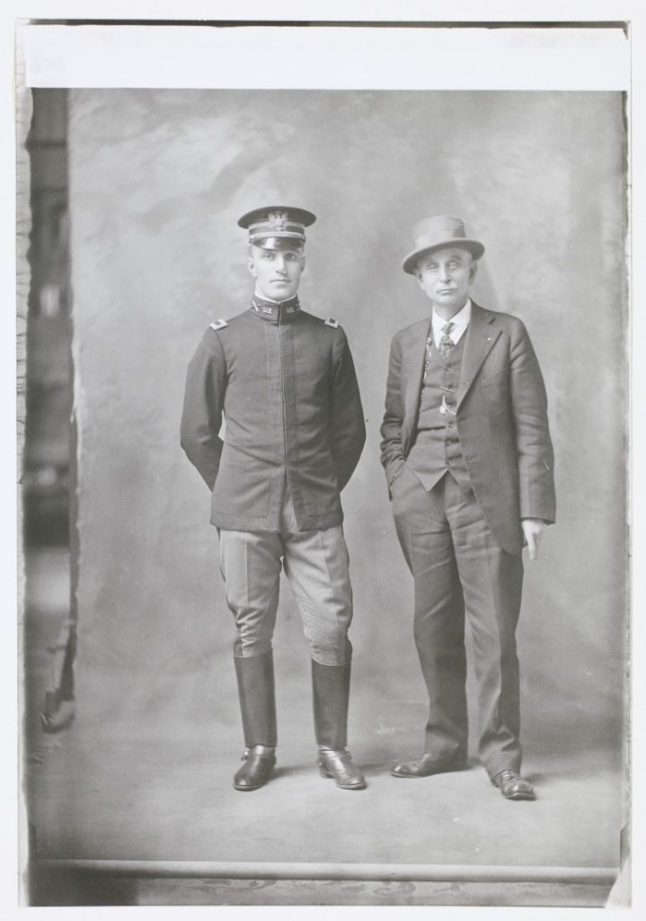 Photograph of D.N. Hicks with his son, Lieutenant Harold Hicks, 1914