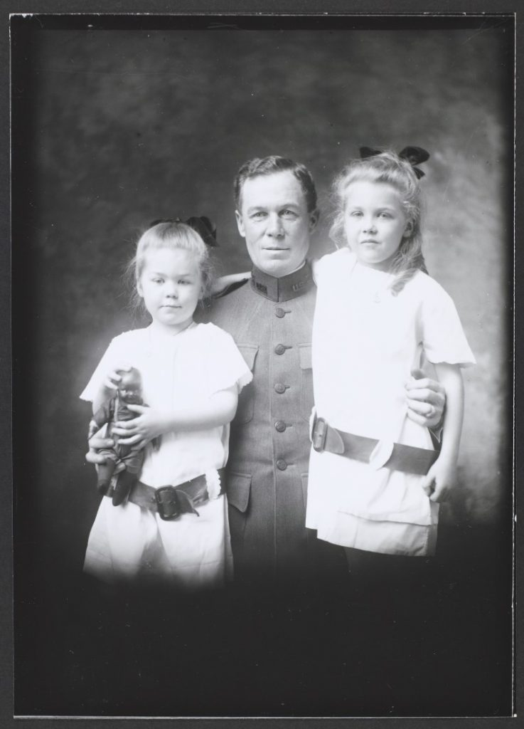 Photograph of Major Baird with his children, 1920-1921