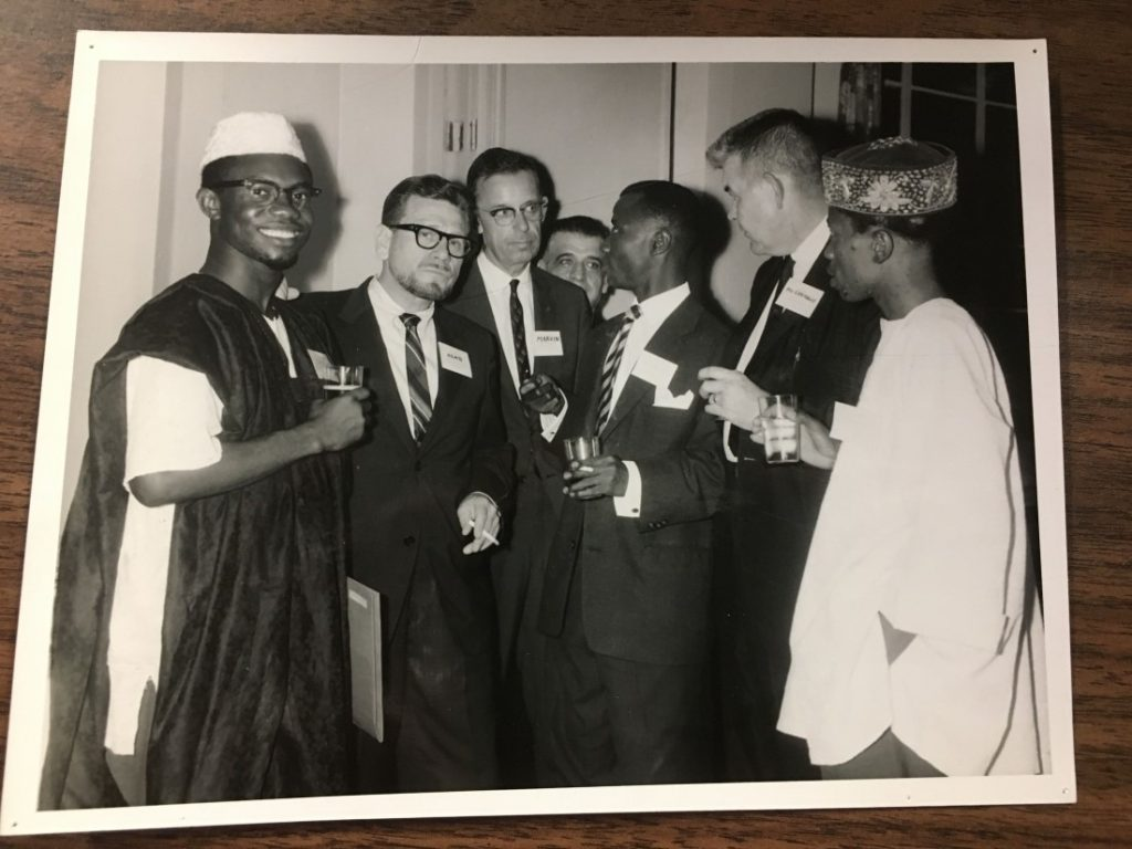 Photograph of Burton Marvin in Sierra Leone, 1963