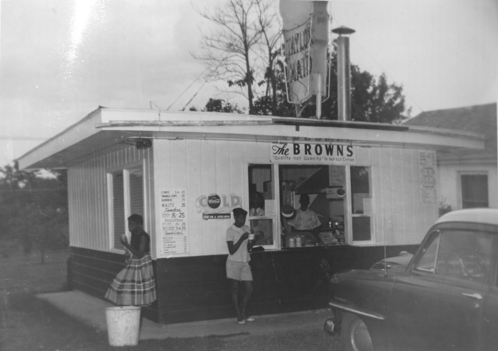Photograph of Brown's Taylor Maid Ice Cream Shop, circa 1950-1970