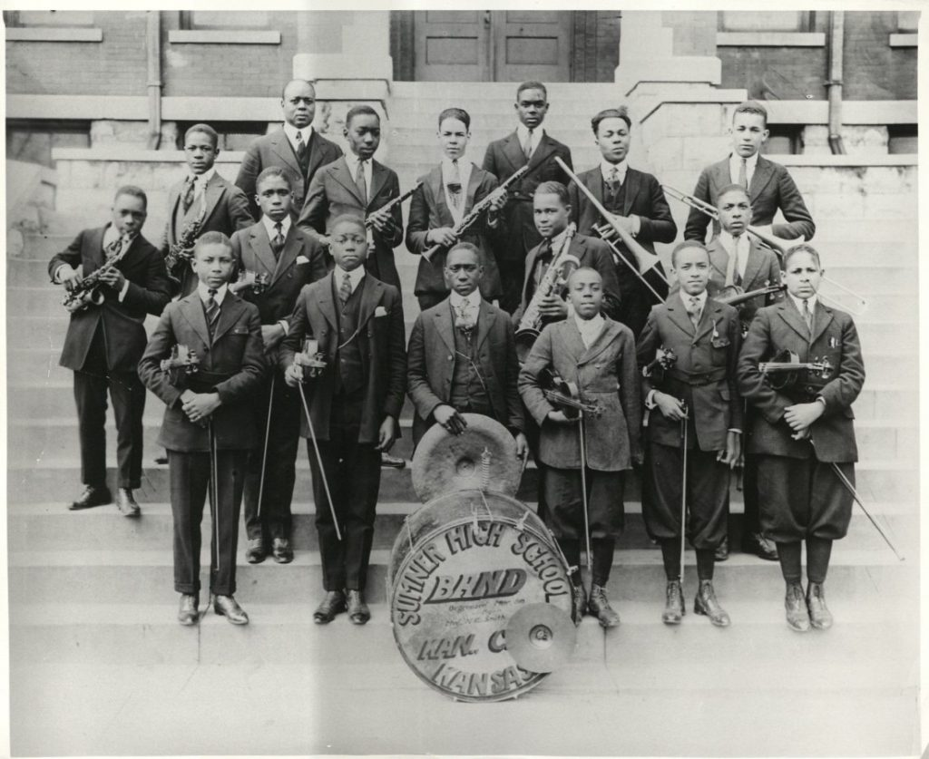Photograph of the Sumner High School orchestra, 1918