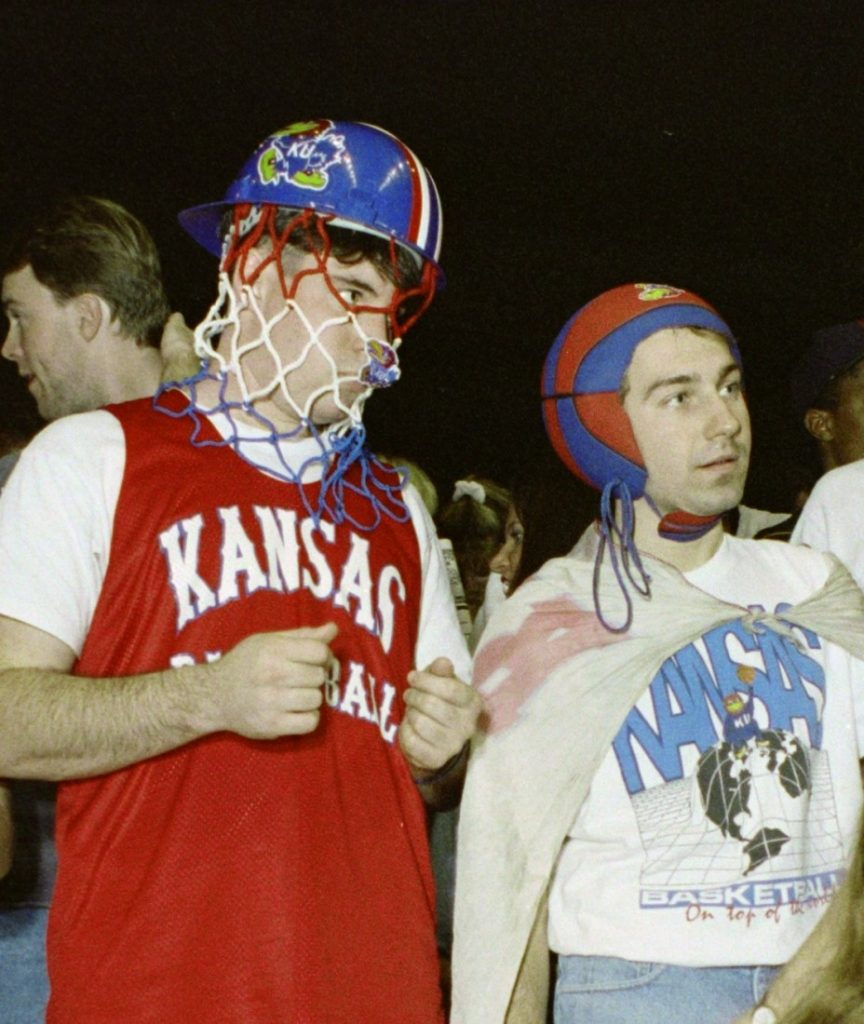 Photograph of KU basketball fans, 1991-1992