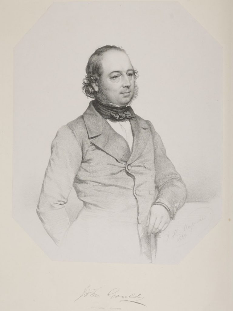 Lithographic portrait of John Gould, 1834
