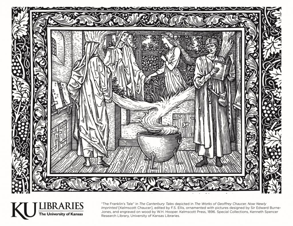 """""""The Franklin's Tale"""" in The Canterbury Tales in the Kelmscott Chaucer, 1896"""