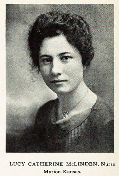 Photograph of Lucy McLinden, circa 1918