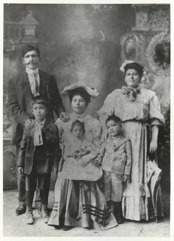 Portrait of an unknown Hispanic family in Garden City, Kansas, circa 1900