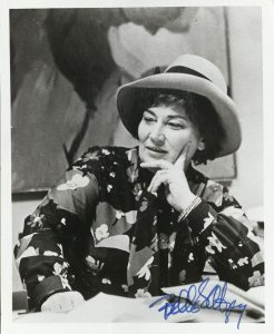 Signed photograph of New York Member of Congress, Bella Abzug.