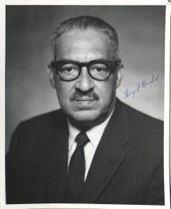 Signed photograph of Supreme Court Justice Thurgood Marshall
