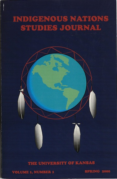 Photograph of the cover of Indigenous Nations Studies Journal, Spring 2000