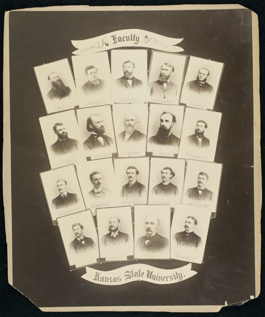 Photographs of the University of Kansas faculty, 1885