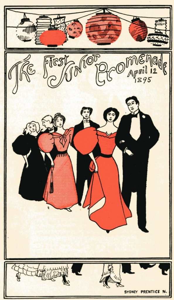 """The First Junior Promenade, April 12, 1895"" in the 1896 KU yearbook"