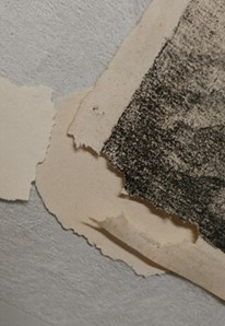 Finding a selection of paper pulp that best matched the color of the print.