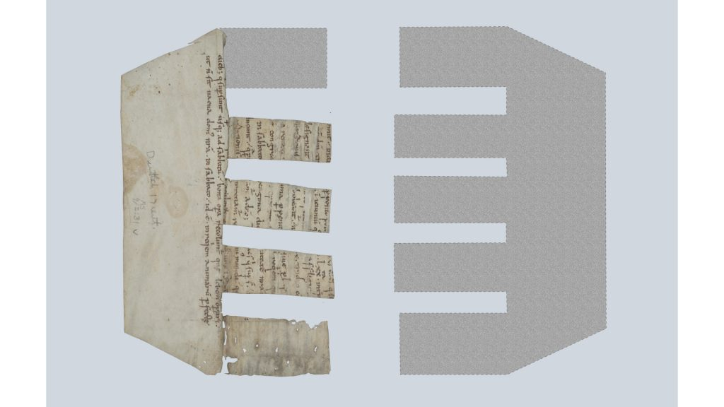 Reconstruction of MS 9/2:31 as a comb spine lining.